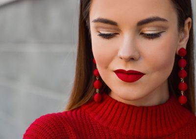 trucco rossetto rosso