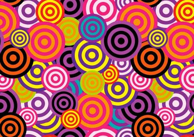 pattern cerchi anni 70