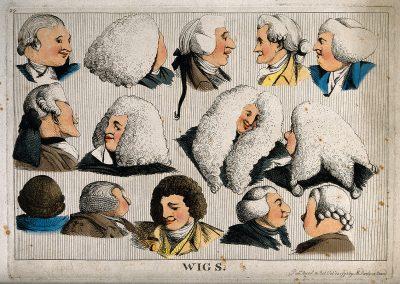 illustrazione parrucche storiche