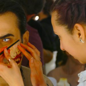 Trucco zombie walk bologna